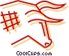 Vector Clipart graphic  of a Stock market Bull symbol