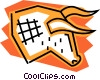 Vector Clip Art graphic  of a Stock market Bull symbol