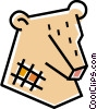 Vector Clip Art image  of a Stock market bear symbol