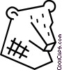 Stock market bear symbol Vector Clip Art picture