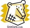 Vector Clipart illustration  of a Stock market bear symbol