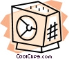 Bank vault Vector Clipart illustration