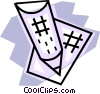 Vector Clip Art graphic  of a Pencil and paper