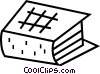 Vector Clipart graphic  of a Text book