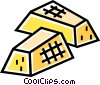 Vector Clip Art graphic  of a Gold bars