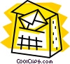 Vector Clipart graphic  of a Mailbox and letter