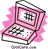 Vector Clip Art image  of a Notebook computer