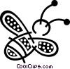 Vector Clip Art image  of a Bumble bee