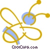 Vector Clip Art graphic  of a Bumble bee