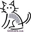 Domestic cat Vector Clipart picture