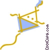 Vector Clip Art graphic  of a Flying kite