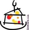 Piece of birthday cake Vector Clipart image