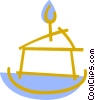 Vector Clipart picture  of a Piece of birthday cake
