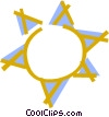 Vector Clipart image  of a Shinning sun