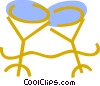 Vector Clip Art graphic  of a Champagne glasses