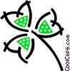Vector Clipart image  of a Lucky shamrock