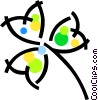 Vector Clip Art image  of a Lucky shamrock