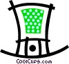 Vector Clip Art image  of a St. Patrick's Day hat