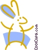 Vector Clipart image  of a Bunny rabbit