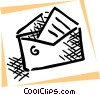Vector Clip Art graphic  of a Letter and envelope