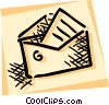 Vector Clipart image  of a Letter and envelope