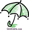 Open umbrella Vector Clip Art picture