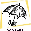 Open umbrella Vector Clipart image