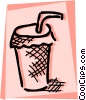 Vector Clip Art image  of a Soft drink