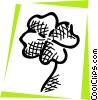 Vector Clip Art graphic  of a Four leaf clover