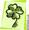 Vector Clip Art image  of a Four leaf clover