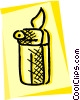Vector Clip Art image  of a Cigarette lighter