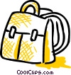 Vector Clip Art image  of a School knapsack