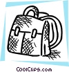 Vector Clipart image  of a School knapsack