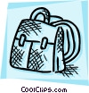 School knapsack Vector Clipart picture