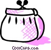Vector Clip Art image  of a Change purse