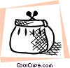 Vector Clip Art graphic  of a Change purse