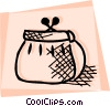 Change purse Vector Clipart picture