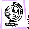 Vector Clipart image  of a Spinning globe