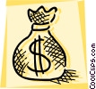 Bag of money Vector Clipart picture