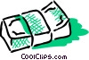 Vector Clip Art graphic  of a Bundle of money