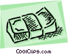 Vector Clip Art image  of a Bundle of money