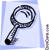 Vector Clip Art graphic  of a Magnifying glass