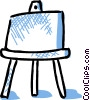 Vector Clip Art picture  of a Easel with paper