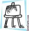 Vector Clipart image  of a Easel with paper