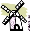 Dutch windmill Vector Clipart image