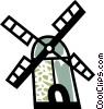 Vector Clipart illustration  of a Dutch windmill