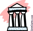 Greek Columns Vector Clipart illustration