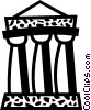Vector Clip Art image  of a Greek Columns