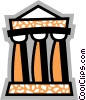 Greek Columns Vector Clip Art graphic