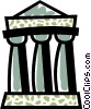 Vector Clip Art graphic  of a Greek Columns
